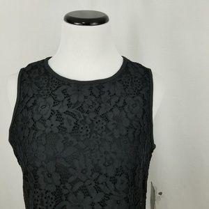 Nine West Dresses - NEW Nine West Black Lace Trapeze Shift Dress LBD